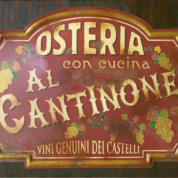 """Targa Vintage """"Osteria al Cantinone"""" dell'Accademia delle Insegne d'Epoca"""