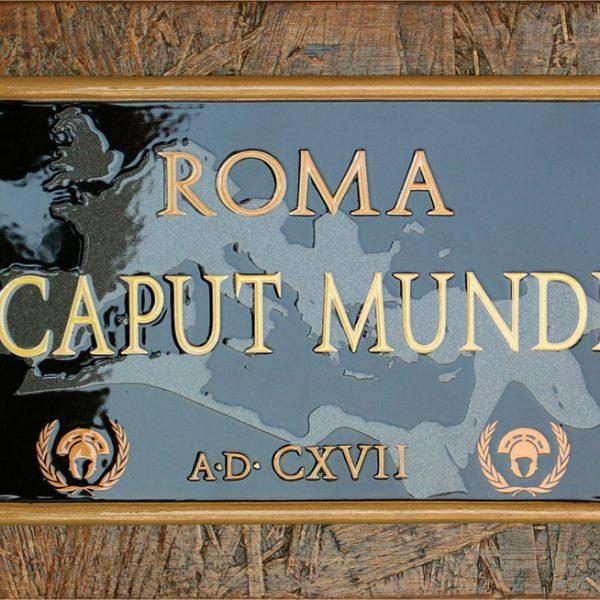 "Targa Vintage ""Roma Caput Mundi"" dell'Accademia delle Insegne d'Epoca"