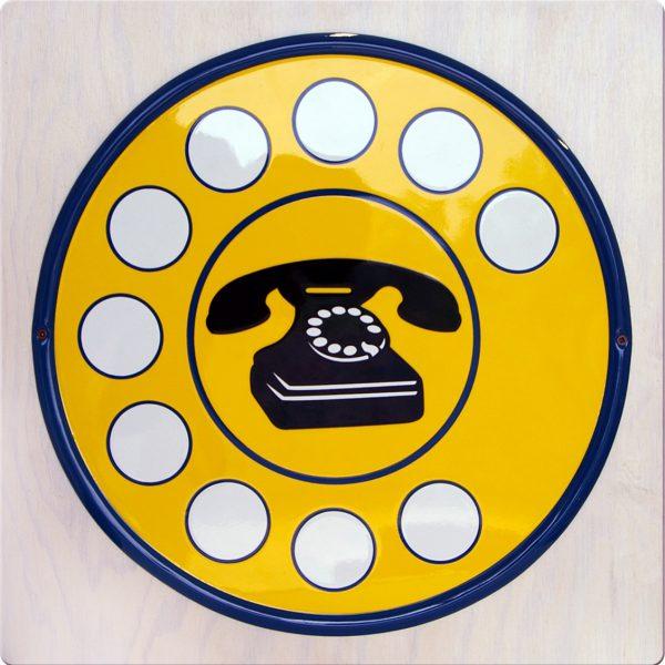 """Targa Vintage """"Telefono"""" dell'Accademia delle Insegne d'Epoca"""