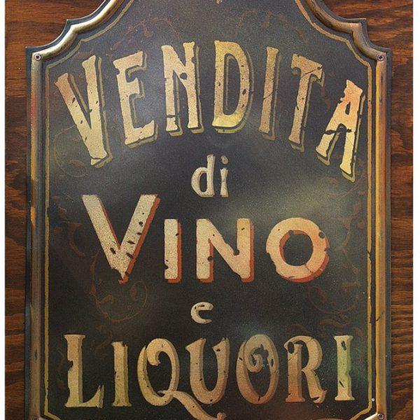 """Targa Vintage """"Vendita di Vino e Liquori"""" dell'Accademia delle Insegne d'Epoca"""