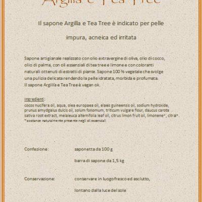 """Sapone """"Argilla e Tea Tree"""" della Saponeria Luna Roma"""